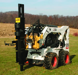 Kiwi Skid Steer Post Driver